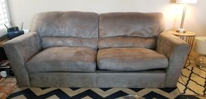 Tan / light brown Microsuede sofa / couch for Sale in San Diego, CA