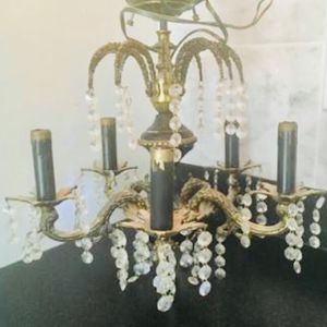 Beautiful Vintage Crystal Chandelier (French Empire) for Sale in West Sacramento, CA