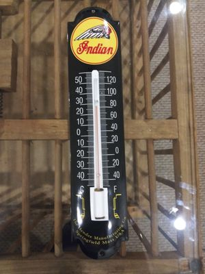 Indian motorcycle porcelain thermometer for Sale in Quakertown, PA