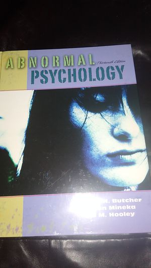 ABNORMAL PSYCHOLOGY TEXTBOOK for Sale in KINGSVL NAVAL, TX