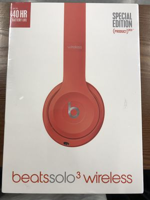 Brand new sealed beats solo 3 wireless product red special edition for Sale in Berkeley, CA