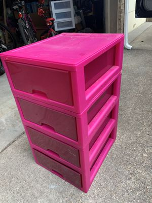 4 drawer plastic container for Sale in Midlothian, TX