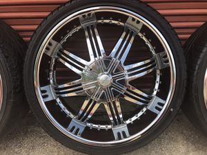 CHROME CHEVY GMC FORD F150 EXPEDITION RIMS 26 INCH for Sale in Cedar Hill, TX
