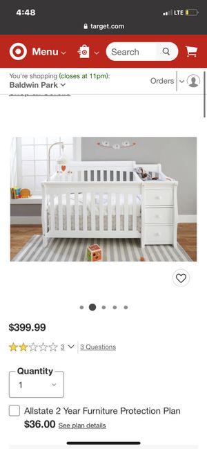 white baby crib for Sale in City of Industry, CA