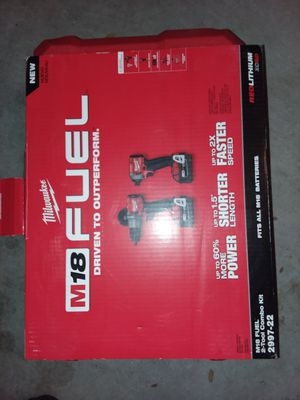 Milwaukee fuel 2 piece combo asking $230 for Sale in Chicago, IL