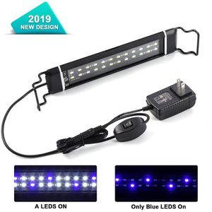 Brand New)LED Aquarium Light with Extendable Brackets Fish Tank Light ,White and Blue LEDs Aquarium Lamp Fixture for Lighting Decoration for Sale in Duluth, GA