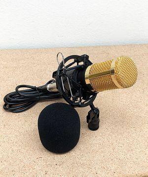 (NEW) $20 BM800 Condenser Microphone Kit Shock Mount Record Mic Anti-Wind Cap Studio Set for Sale in Whittier, CA