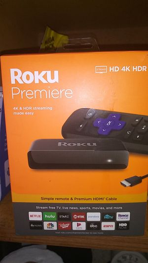 Brand new Roku Premiere 4K plus HDR streaming made easy for Sale in Knoxville, TN