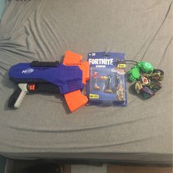 Kids toys Nerf Gun, Bayblades, Fortnite Figures for Sale in Silver Spring,  MD
