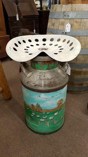 Tractor Seat Milk Can for Sale in Mesa, AZ