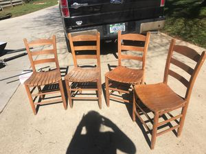 4 antique ladder back chairs for Sale in Landrum, SC