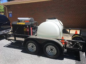 Landa heated pressure washer and trailer and tool box for Sale in Alexandria, VA