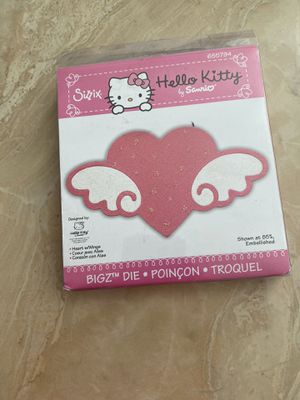 Sizzix, Hello Kitty, Bigz Die, Heart with wings for Sale in Palmdale, CA