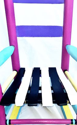 Vintage Wooden Child's Rocking Chair Hand Painted for Sale in Santa Rosa,  CA