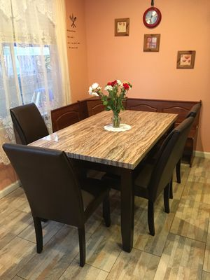 NEW in BOX Dining Table Set with 4 Chairs for Sale in Hayward, CA