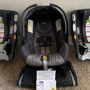Chicco KeyFit 30 Infant Car Seat with 2 Bases for Sale in Flower Mound, TX
