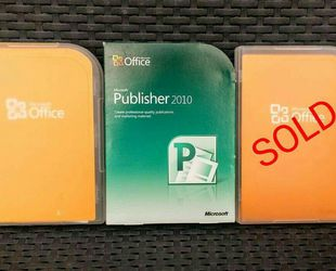 "Genuine Microsoft Publisher & Office ""Home and Student"" 2010 for Sale in San Mateo,  CA"