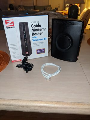 Zoom cable modem router for Sale in NO FORT MYERS, FL