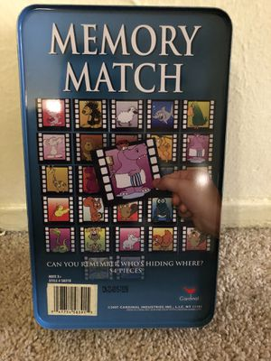 Memory match game for Sale in Dallas, TX