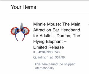 Minnie Mouse: The Main Attraction Ear Headband for Adults – Dumbo, The Flying Elephant – Limited Release for Sale in Diamond Bar, CA