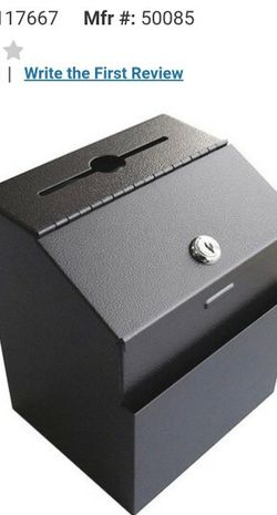 Metal Suggestion Box with Lock Wall Mounted Ballot Box Donation Box Key Drop Box for Sale in Chicago,  IL
