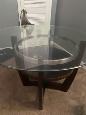 Round glass table for Sale in Washington, DC