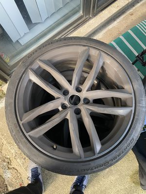 3 continental Tires and Rims 5 Spoke for Sale in Des Plaines, IL