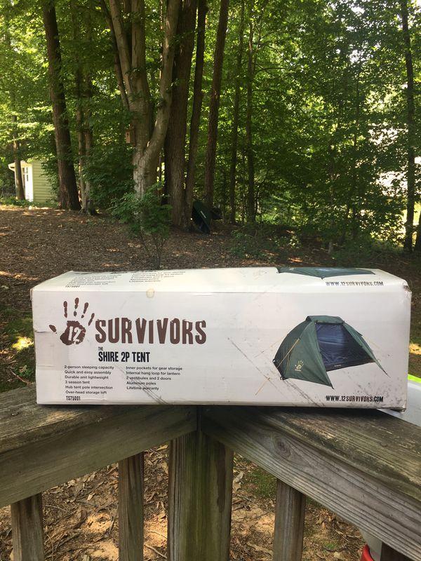 12 Survivors 2p Camping Tent