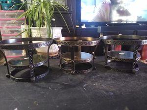 Set of 3 plant pedestals $15 for Sale in Phoenix, AZ
