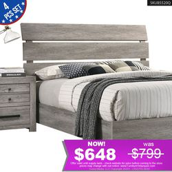 *QUICK SELLER* 4Pcs Bedroom Set Bed + Dresser + Night Stand + Mirror B5520Q for Sale in Long Beach,  CA