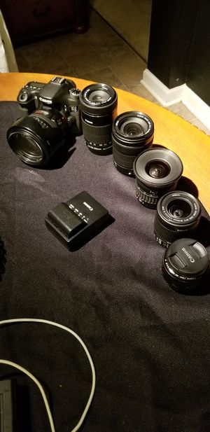 Canon 70d and 6 lenses for Sale in College Park, GA