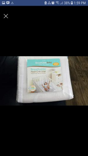 Breathable baby mesh crib liner-white for Sale in Houston, TX