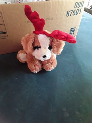 Xmas dog stuffed animal. for Sale in Linden, PA