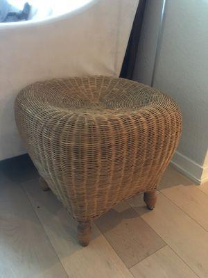 Wicker Ottoman/Side-table - Willow Glen for Sale in San Jose, CA