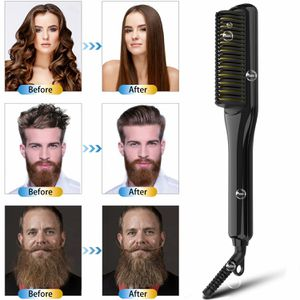 Hair Straightener for Women and men, Ceramic and Ionic Hair Straightening Comb with Fast Heating and Anti-Scald, Dual Voltage Beard Straightening for Sale in Ontario, CA