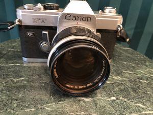 Canon FT QL camera 55 mm lens 1:1.2 for Sale in Pembroke Pines, FL