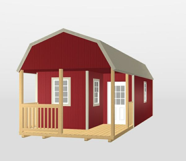 Repo: 12x32 Lofted Barn Cabin (as is)