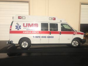 2009 Chevy 3500 Express Ambulance for Gurney (Stretcher) 89K Miles only Excellent Condition for Sale in Dublin, CA