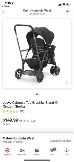 Joovy Caboose double stroller for Sale in Honolulu, HI