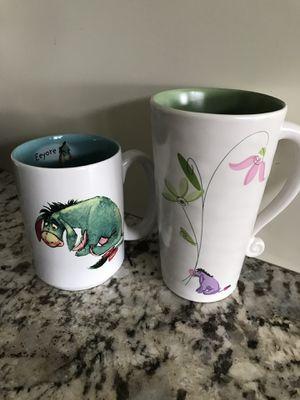 2 Disney store Eeyore mugs for Sale in Vancouver, WA