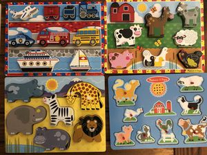 Melissa and Doug Chunky Wood Puzzles for Sale in Pico Rivera, CA