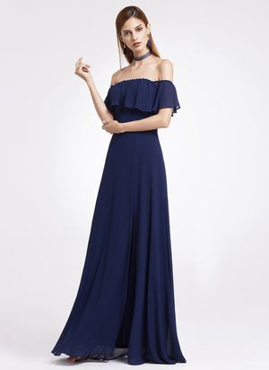 Ever-pretty long off-shoulder bridesmaid dress split evening prom gown   size 4 for Sale in North Las Vegas, NV