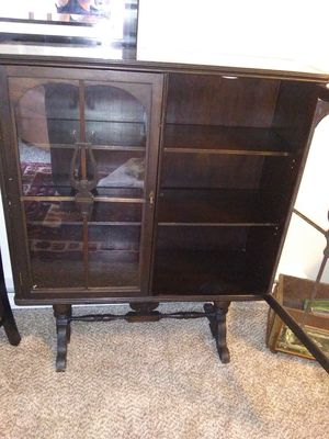 Antique China/ book case with glass doors for Sale in Everett, WA