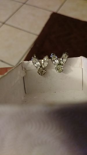 Antique diamond playboy earrings(clip on) for Sale in St. Louis, MO
