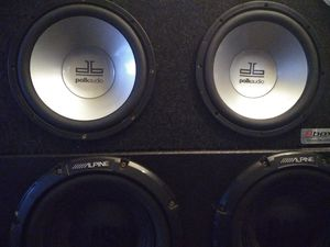 2 10 inch Polk Audio db subwoofer speakers in a dual Bbox! $100 OBO for Sale in Portland, OR