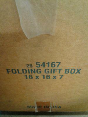 16 x 16 x 7 Folding Gift Boxes 25 per case for Sale in Stockton, CA