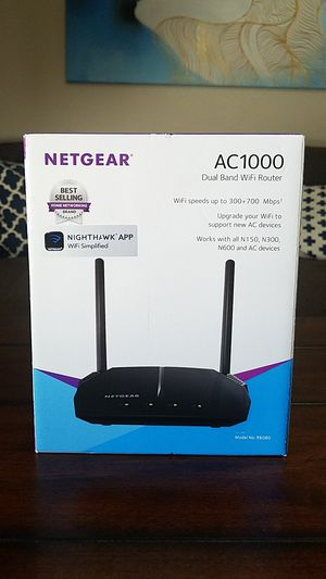 Netgear AC1000 Dual Band Wifi Router for Sale in Dallas, TX