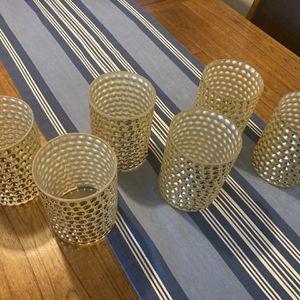 6 Bubbled Gold Glass Vases for Sale in Arlington, VA