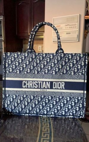 CD Large Navy Tote Bag for Sale in Los Angeles, CA