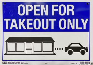 New business sign Open for Takeout only/ es un sign para negocio. for Sale in Edinburg, TX